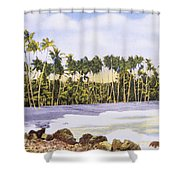 Hawaii Postcard Shower Curtain