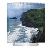 Hawaiian Black Sand Beach Shower Curtain