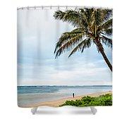 Hawaiian Boy Fishing Shower Curtain