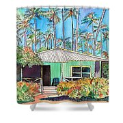 Hawaiian Cottage I Shower Curtain