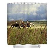 Hawaiian Cowboys Shower Curtain