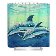 Hawaiian Dolphins  #389 Shower Curtain