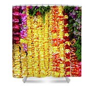 Hawaiian Flower Lei's Shower Curtain
