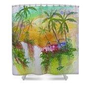 Hawaiian Homestead In The Valley #460 Shower Curtain