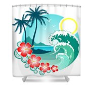 Hawaiian Island 2 Shower Curtain