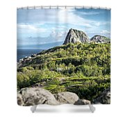 Hawaiian Island Drive Shower Curtain