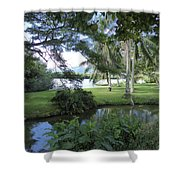 Hawaiian Lagoon Shower Curtain