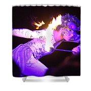 Hawaiian Luau Fire Eater 2 Shower Curtain