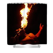 Hawaiian Luau Fire Eater Shower Curtain