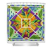 Hawaiian Mandala II - Bird Of Paradise Shower Curtain