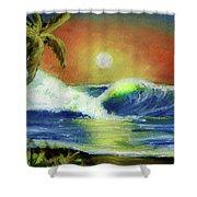 Hawaiian Moon #399 Shower Curtain