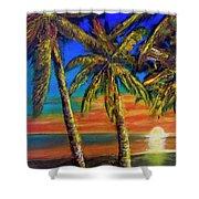 Hawaiian Moon #404 Shower Curtain