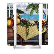 Hawaiian Still Life With Haleiwa On My Mind Shower Curtain