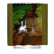Hawaiian Stream Shower Curtain