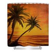 Hawaiian Sunset #380 Shower Curtain