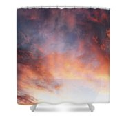 Hawaiian Sunset Clouds Shower Curtain