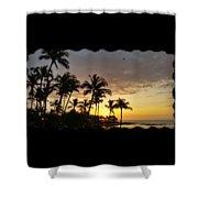 Hawaiian Sunset Design Shower Curtain