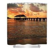 Hawaiian Sunset Hanalei Bay 1 Shower Curtain