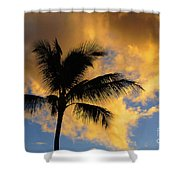 Hawaiian Sunset Hanalei Bay 5  Shower Curtain