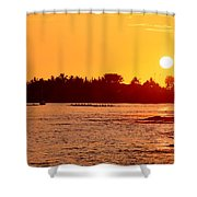 Hawaiian Sunset Shower Curtain