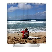 Hawaiian Surfer Shower Curtain
