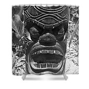 Hawaiian Tiki God Ku Shower Curtain
