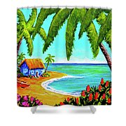 Hawaiian Tropical Beach  #364 Shower Curtain