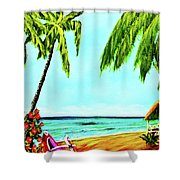 Hawaiian Tropical Beach #367  Shower Curtain