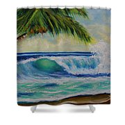 Hawaiian Tropical Wave Art Print Painting #424 Shower Curtain