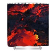 Hawaiian Volcano Lava Flow Shower Curtain