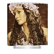 Hawaiian Wahine Shower Curtain