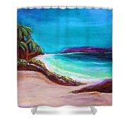 Hawaiin Blue Shower Curtain