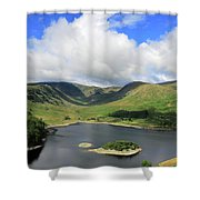 Haweswater Reservoir, Mardale Valley, Lake Dist Shower Curtain