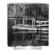 Hawk Island Michigan Dock  Shower Curtain