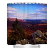 Hawk Mountain Pennsylvania Shower Curtain