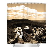 Hawk Mountain In Sepia Shower Curtain