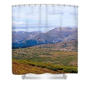 Hawk Soaring Over Guanella Pass In The Arapahoe National Forest Shower Curtain