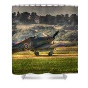 Hawker Hurricane Mk 1 R4118 Takeoff Shower Curtain