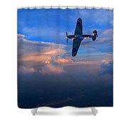 Hawker Hurricane On Dawn Patrol Shower Curtain