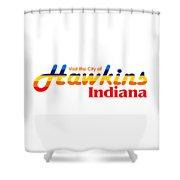 Hawkins Badge Shower Curtain