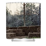 Hay , Open Seating  Shower Curtain