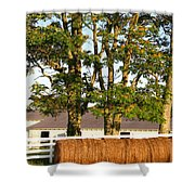 Hay Bales And Trees Shower Curtain