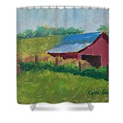 Hay Bales In Morning Light Shower Curtain