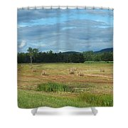 Hay Fields In The Adirondacks Shower Curtain