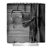 Hay Hook And Harness Shower Curtain