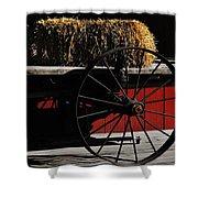 Hay On Wheels Shower Curtain