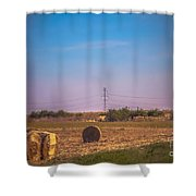 Hay Rolls Shower Curtain