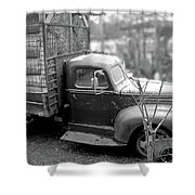 Hay Truck Shower Curtain