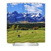 Hay With A View Shower Curtain
