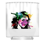 Hayden Panettiere Pop Art Shower Curtain